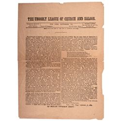 Prohibition Broadside  - , - 1891 - 2012aug - Saloon