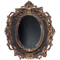 Tobacco Advertisment Mirror  - , - c1880 - 2012aug - Saloon