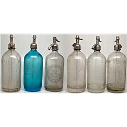 California Seltzer Bottles Plus Reno Cobalt CA - , - c1907-1910, c.1940 - 2012aug - Saloon