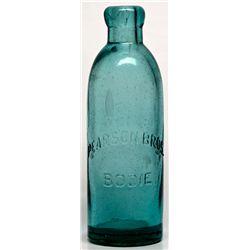 Pearson Bros. Bodie Soda Bottle CA - Bodie,Mono County - c1880-1887 - 2012aug - Saloon