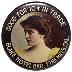Blake Hotel Bar Mirror CA - Etna Mills,Siskiyou County - c1900-1910 - 2012aug - Saloon
