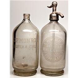 Eureka Seltzer Bottles CA - Eureka,Humboldt County - c1910-1925 - 2012aug - Saloon