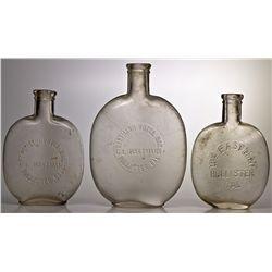 Hollister Whiskey Bottles CA - Hollister,San Benito County - c1890 - 2012aug - Saloon