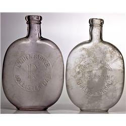 Lynn & Parker Hollister Flasks CA - Hollister,San Benito County - 1880-1890 - 2012aug - Saloon