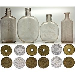 The Mint Token and Bottle Set CA - Hollister,San Benito County - 1899 - 2012aug - Saloon