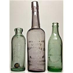 Nevada County Bottle Trio CA - Nevada City,2012aug - Saloon
