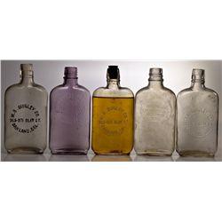 Oakland Whisky Flasks CA - Oakland,Alameda County - 1905-1910 - 2012aug - Saloon