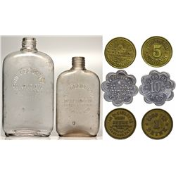 Occidental Saloon Whiskey Bottle and Token Set CA - Oakland,Alameda County - 1899 - 2012aug - Saloon