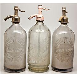Seltzer Bottle Trio CA - Oakland,Alameda County - c1910-1930 - 2012aug - Saloon
