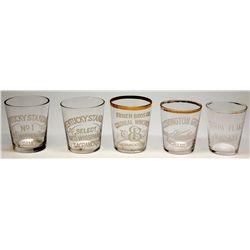 Set of 5 Sacramento Whiskey Glasses CA - Sacramento, - 1884-1918 - 2012aug - Saloon