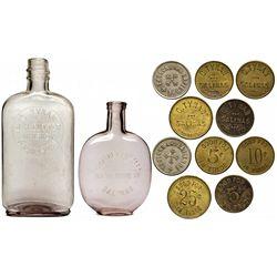 Salinas Bottle and Token Group CA - Salinas,Monterey County - 1895 - 2012aug - Saloon
