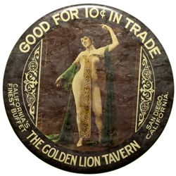 Golden Lion Tavern Mirror CA - San Diego, - c1905-1910 - 2012aug - Saloon