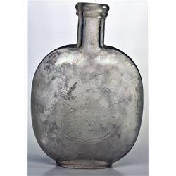 Early San Francisco Picnic Flask CA - San Francisco, - c1885 - 2012aug - Saloon