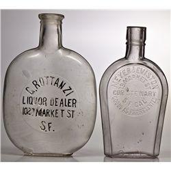 Market St. S.F. Whiskey Bottles CA - San Francisco,1890 - 2012aug - Saloon