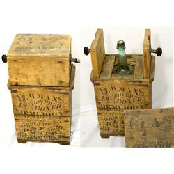 Original Wooden Demi-John Box CA - San Francisco,post-1877 - 2012aug - Saloon