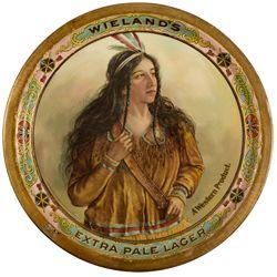 Wieland Brewing Company Beer Tray CA - San Francisco, - c1900 - 2012aug - Saloon