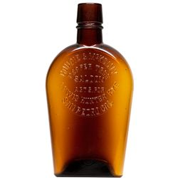 Pepper Tree Saloon Whiskey Flask CA - San Pedro,Los Angeles - c1915 - 2012aug - Saloon