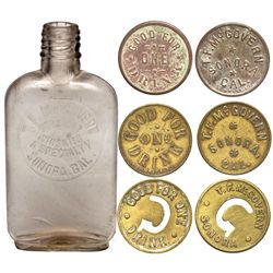 T.F. McGovern Bottle and Tokens CA - Sonora,Tuolumne County - c1908 - 2012aug - Saloon