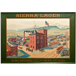 Reno Brewing Company Sierra Lager Sign Brewing Company Metal Sign NV - Reno,Washoe County -  - 2012a