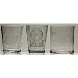 Oregon Shot Glasses OR - 2012aug - Saloon