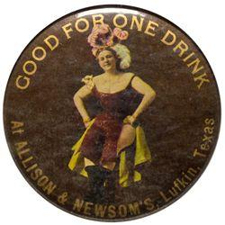 Allison & Newsom's Mirror TX - Lufkin,Angelina County - c1905-1910 - 2012aug - Saloon