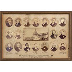 Presidential Centennial Broadside PA - Philadelphia, - 1876 - 2012aug - Worlds Fair