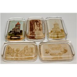 Garfield Presidential Glass Paper Weight Collection 2012aug - Worlds Fair