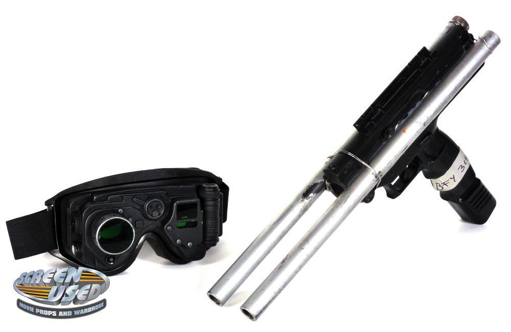 Screen-used prop Initiative tranquilizer gun & night vision goggles