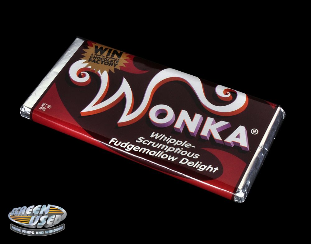Screen Used Wonka Candy Bar From Charlie And The Chocolate Factory