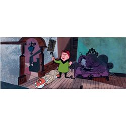 Original production cel and production background from Magoo's Problem Child
