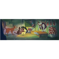Background color key painting from All Dogs Go to Heaven