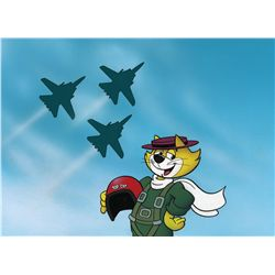 Top Cat original hand-painted and airbrushed presentation cel with original hand-painted background
