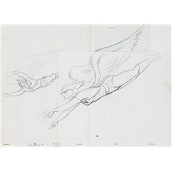 Alex Toth Superfriends pencil layout drawing