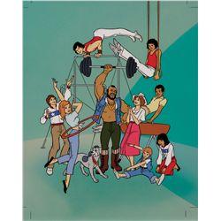 Mr. T animated TV series original hand-painted presentation cel & original hand-painted background