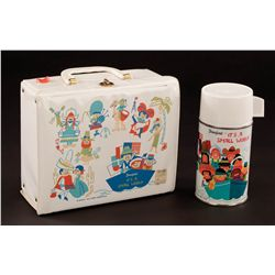"""Disney """"It's A Small World"""" Lunch box with thermos – unused"""