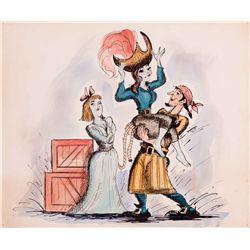 "Rare original concept art for ""Pirates of the Caribbean"" attraction at Disneyland"