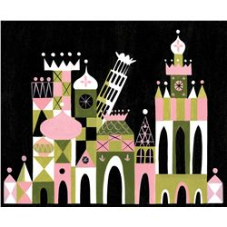 """Mary Blair original concept painting from Disneyland for """"It's a Small World"""""""