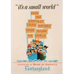 """Original hand-silkscreened poster for the Disneyland """"It's a Small World"""" attraction"""