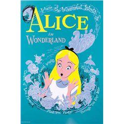 "Original hand-silkscreened poster for the Disneyland ""Alice in Wonderland"" attraction"