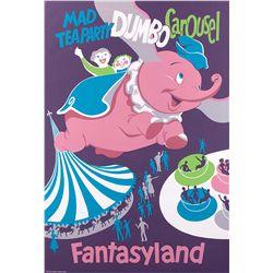 "Original Disneyland ""Dumbo"" ride attraction poster"