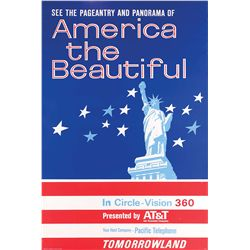 """Original hand-silkscreened poster for the """"America the Beautiful"""" attraction"""