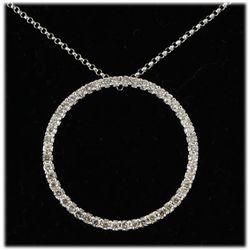 Genuine 0.75ctw Diamond Necklace 14kt W/G 3.38g