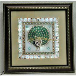 Marble Wall Clock w/ Lights Inside size 9in.x9in.