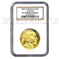 Certified Proof Buffalo Gold Coin 2006-W PF70 Ultra Cam