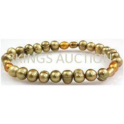84.10ctw Natural Rice Freshwater Pearls Bracelet