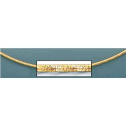 OMEGA NECKLACES 1.2mm 17in. 5.7 grs 14kt Y Gold