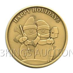 Christmas 2011 Bronze Round X-11 Happy Holidays (with o