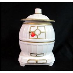 Vintage Country Pot-Bellied Stove Cookie Jar