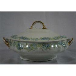 "Handpainted ""Haviland' Porcelain Covered Bowl"