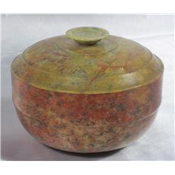 Bowenite Or Serpentine Bowl w/ Lid